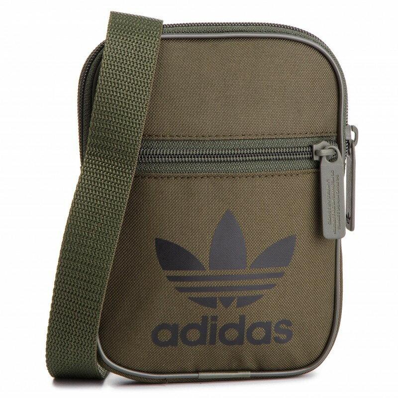 【毒】adidas originals 三葉草 腰包 小包 側背包 軍綠 DV2407 0