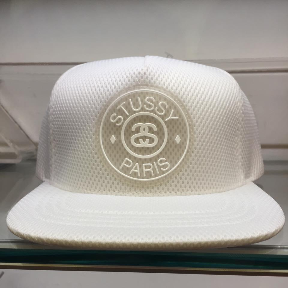 BEETLE STUSSY MESH STUSSY CAP PARIS 全白 網布 棒球帽 LOGO 素面 後扣 復古 ST-35