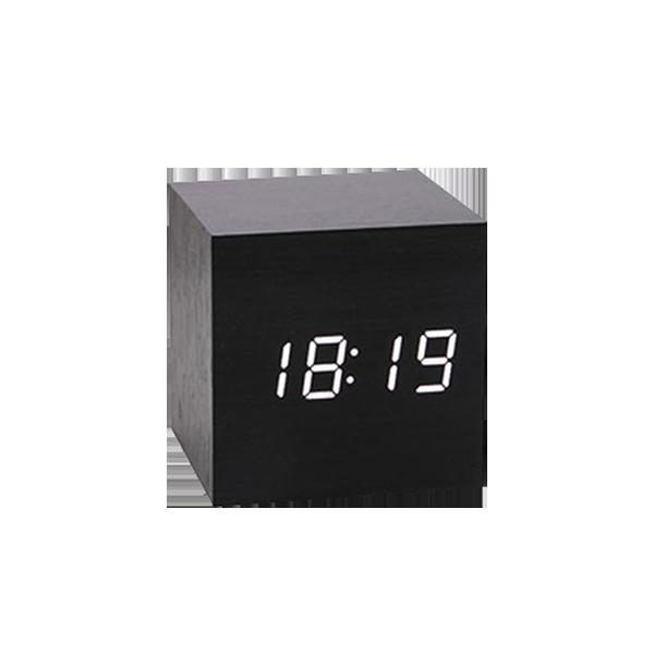 BLADE方形聲控LED木質時鐘 現貨 當天出貨 鬧鐘 數字鐘 木頭鐘 溫度計 萬年曆【刀鋒】