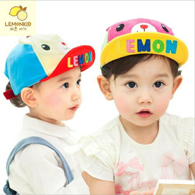 WallFree窩自在★時尚亮色字母設計可愛動物造型兒童休閒鴨舌帽