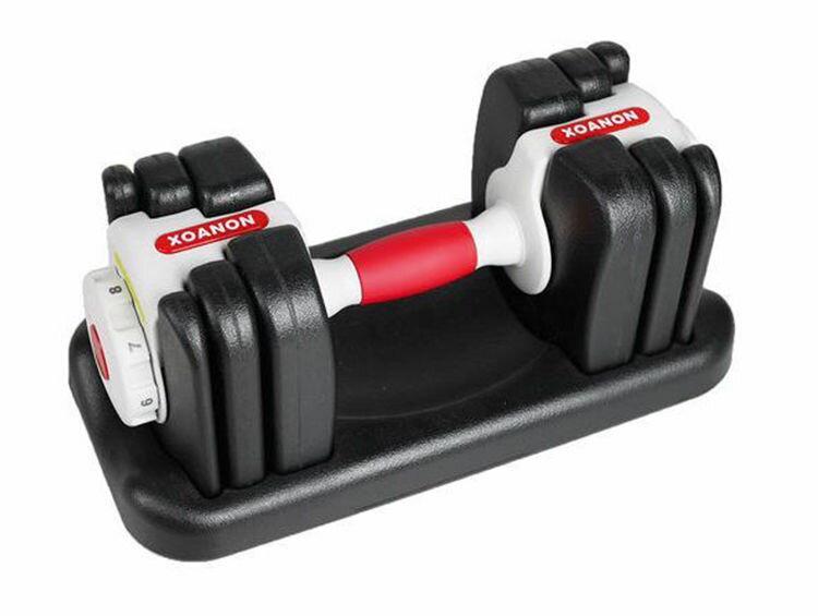 XOANON 洛恩耐運動健身 8公斤啞鈴 dumbell 極速調重啞鈴 AD-8G 8段式可調重 1kg-8kg 入門啞鈴 負重訓練 調整啞鈴 可調式啞鈴