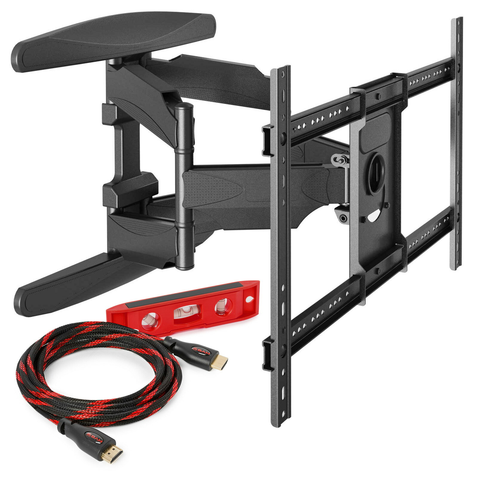 LCD TV Wall Mount Bracket Full Motion Swing Out Tilt and Swivel Articulating Arm