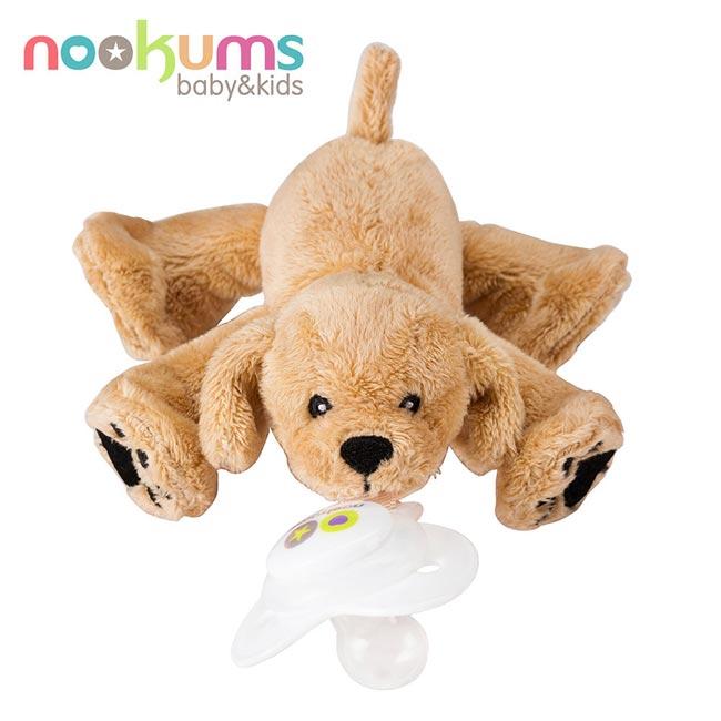 【奇買親子購物網】美國nookums 安撫奶嘴玩偶-黃金小犬