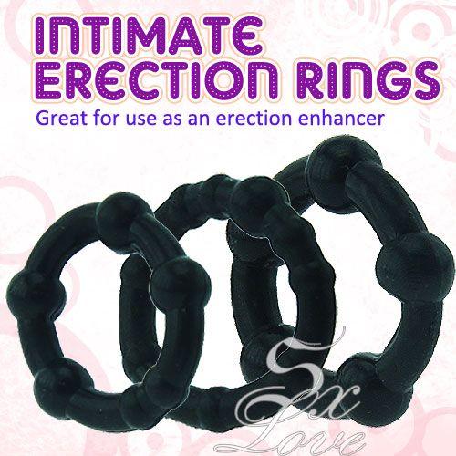 亞娜絲情趣用品 黑金剛特級鎖精環( 超值3環組 )