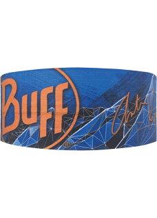 【【蘋果戶外】BUFFBF111631西班牙Coolmax藍稜印記百k勇者抗UV頭帶透氣吸汗速乾登山單車慢跑