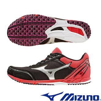 U1GD162503(黑X銀X紅)日本同步WAVE EKIDEN 11 女馬拉松鞋 A【美津濃MIZUNO】