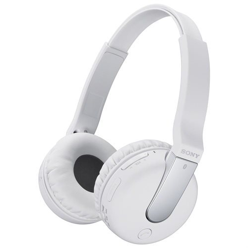 Sony Wireless Stereo Headset; White - Stereo - White - Wireless - Bluetooth - 32.8 ft - 10 Hz - 24 kHz - Over-the-head - Binaural - Circumaural - Condenser, Electret Microphone