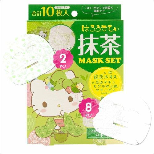 日本!LOOKS抹茶緊緻面膜-10枚(Kitty限定版) [55361]