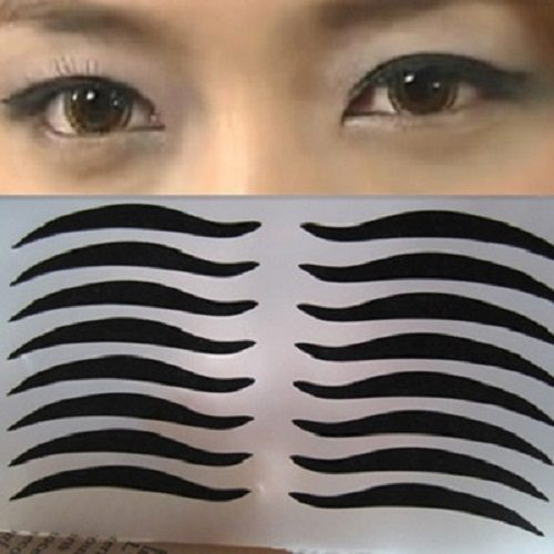 PS Mall 貓眼妝雙眼皮貼紙黑色眼線貼 女人我最大 推薦【H011】