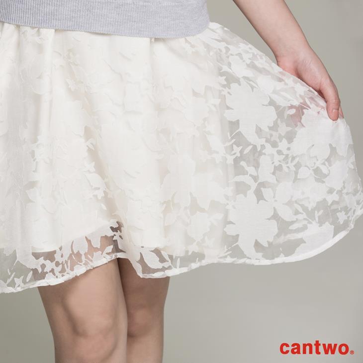 cantwo針織烏干紗兩件式洋裝(共二色) 4