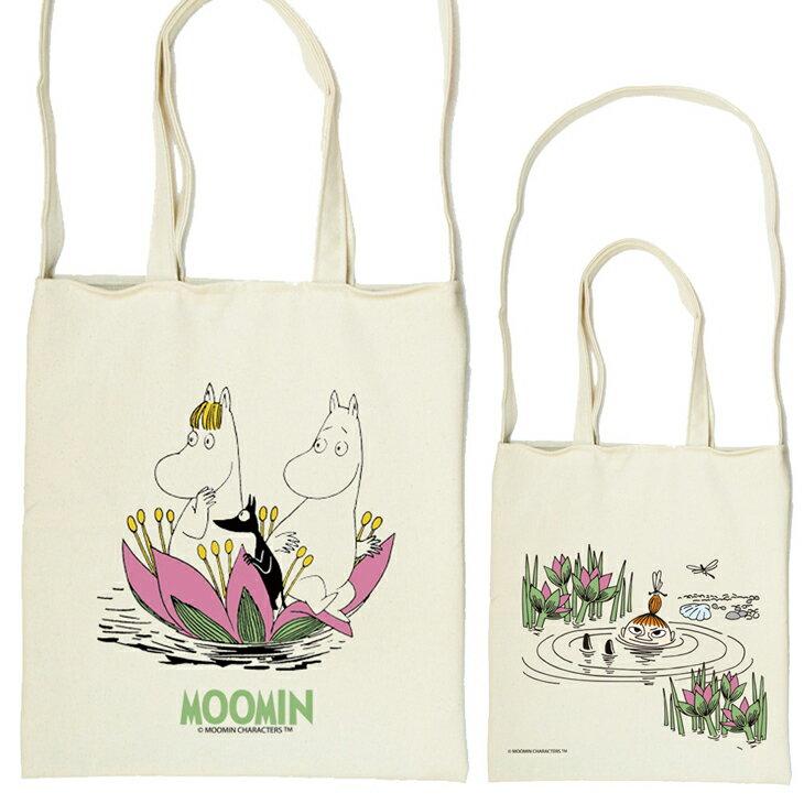 Moomin嚕嚕米授權 - 斜背包:【 蓮花池邊的嬉戲 】
