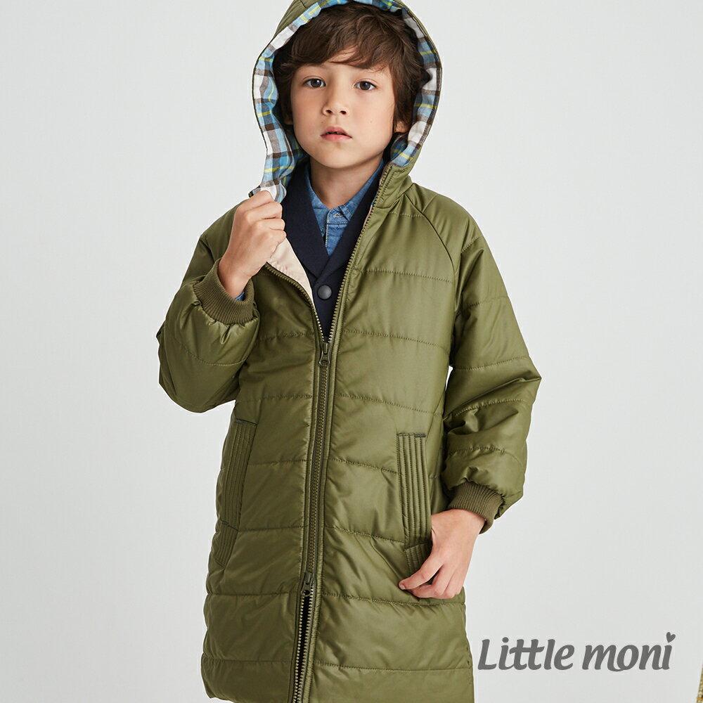 Little moni 3M科技羽絨保暖長版外套-軍綠(好窩生活節) 1