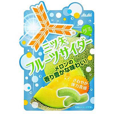有樂町進口食品 日本進口 [ASAHI] 三矢軟糖 哈密瓜/鳳梨/蘇打/芒果 軟糖系列 44g 4946842524396 2