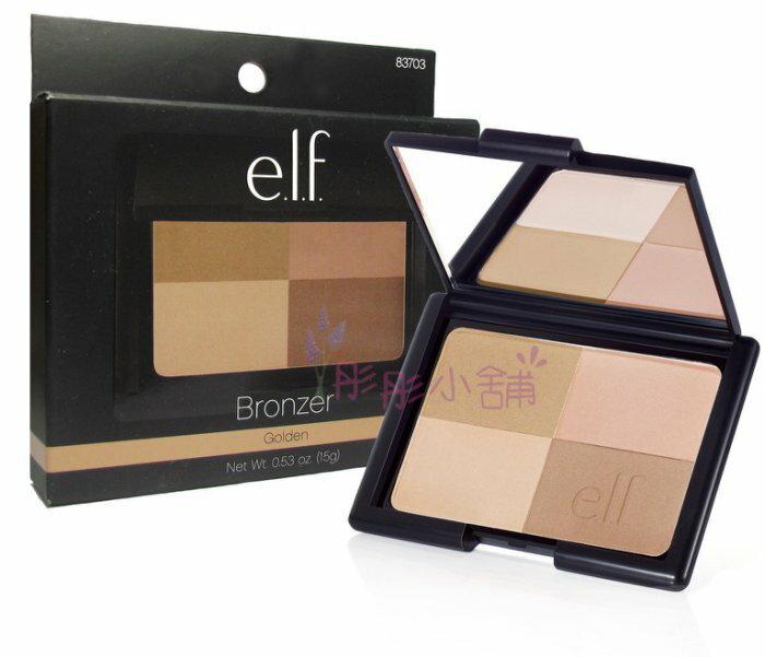 【彤彤小舖】e.l.f. Bronzer Golden 四色修容盤 15g 經典熱銷商品 elf 原裝型號#83703