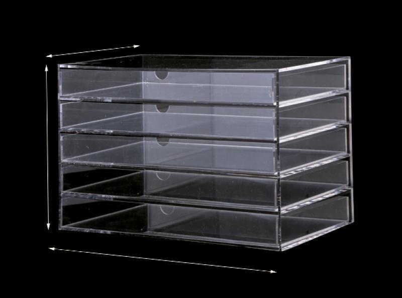 Cosmetic Jewelry Organizer 5 Drawer acrylic Box 3