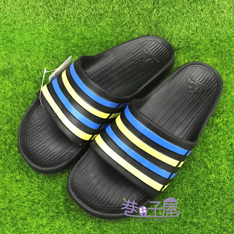 【巷子屋】JIMMY POLO 男/女款經典條紋超輕量拖鞋 [65002] 黑彩 超值價$190