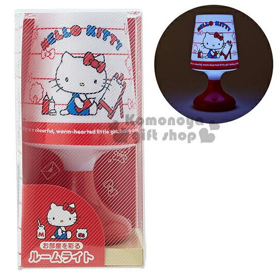 〔小禮堂〕Hello Kitty 造型小夜燈《白紅.坐姿.畫圖.條紋》7種不同顏色燈光