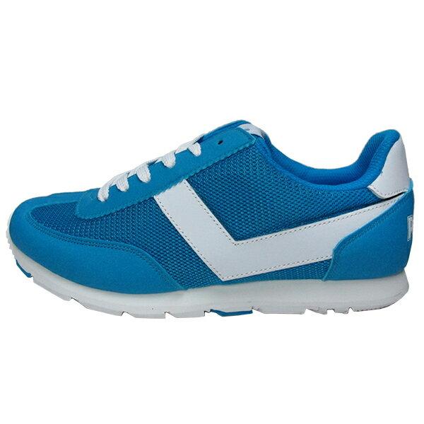 《限時特價799元》 Shoestw【62W1SO63BL】PONY復古慢跑鞋 水藍白V 女款 1
