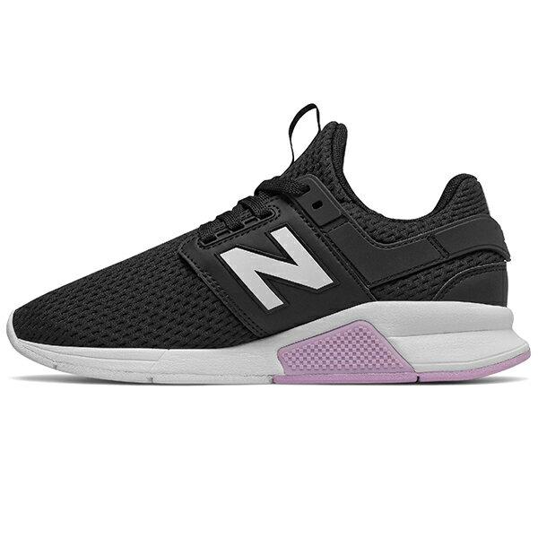 Shoestw【WS247TE】NEW BALANCE NB247 慢跑鞋 網布 襪套 黑白紫 女生尺寸 2