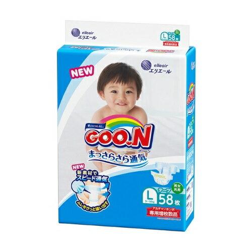 日本大王【GOON】境內彩盒版(增枚) 尿布 L 58片*2包 / 箱(116片) 0
