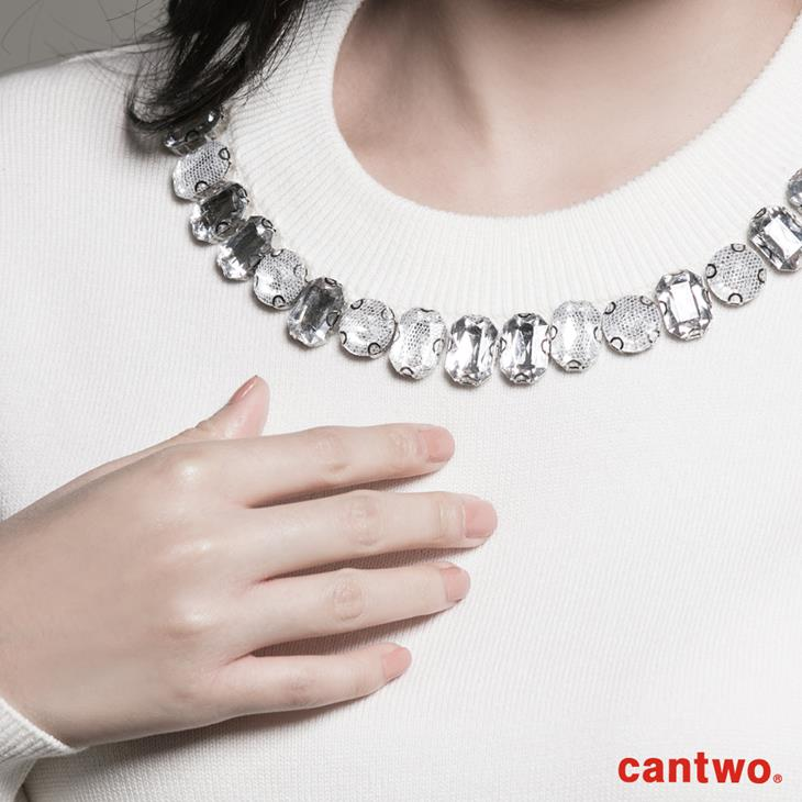 cantwo網紗包鑽圓領針織上衣(共二色) 4