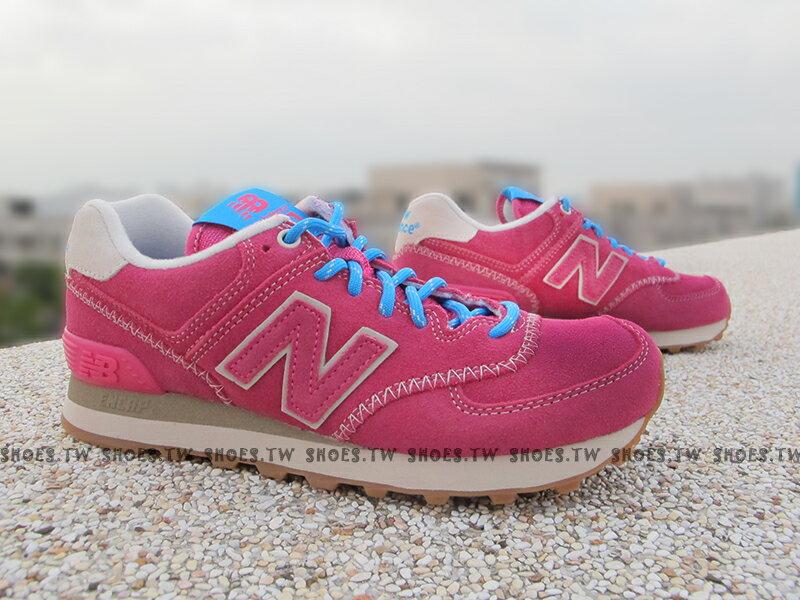 《超值1380》[25.5cm] Shoestw【ML574GEX】NEW BALANCE NB574 復古慢跑鞋 桃紅 特殊縫線 麂皮 女生尺寸