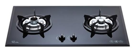 喜特麗檯面式防空燒雙口黑玻璃瓦斯爐/JT-2201A/天然