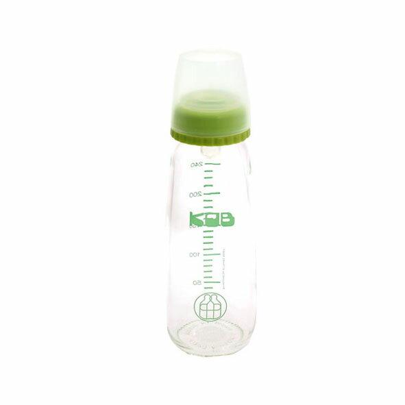 KOB 玻璃奶瓶240ml~綠色