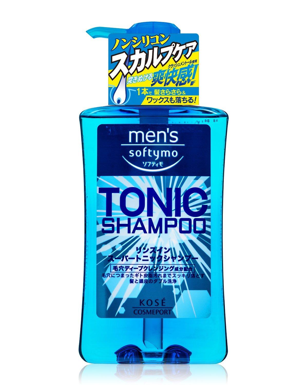 日本 Kose 高絲 Softymo TONIC SHAMPOO 男士超涼爽快洗髮精 550ml