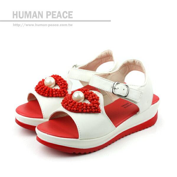 涼鞋 白 童 no101