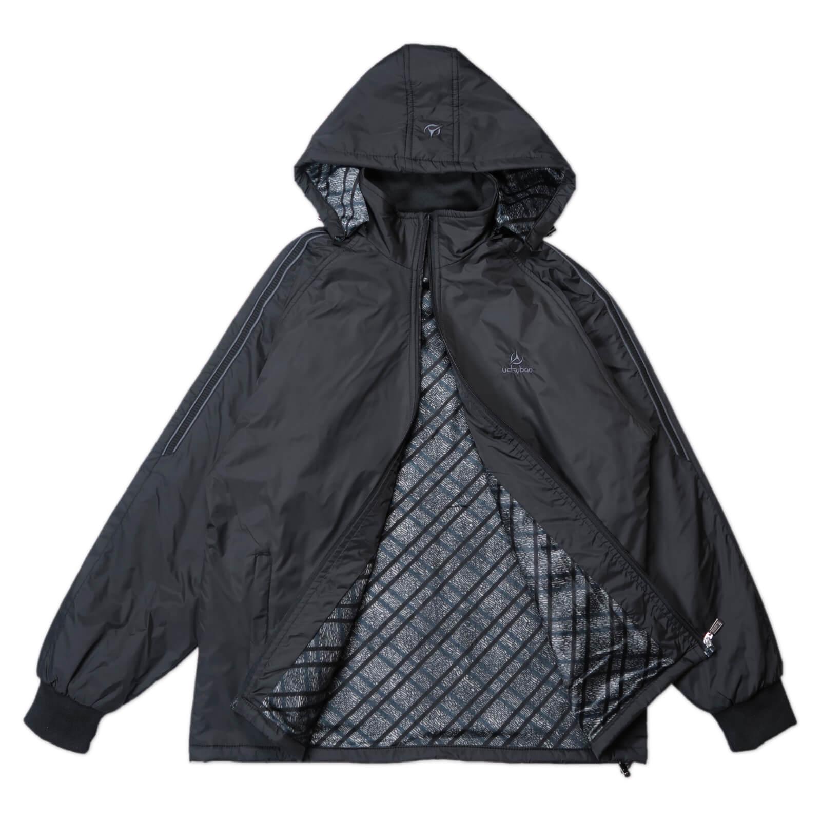 內舖絨布保暖風衣外套 保暖外套 騎士外套 夾克外套 防風外套 黑色外套 FLANNEL LINED WINDBREAKER JACKETS (312-6077-21)黑色 L XL 2L(胸圍46~51英吋) [實體店面保障] sun-e 9