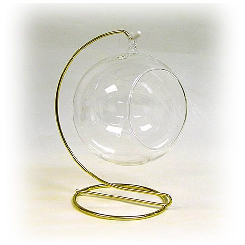 Glass 4-1/2 Inch Terrarium for Plants, Candles or Crafts Includes a Display Stand 9ce9e87b904dae973a9aaf6f359cb02e