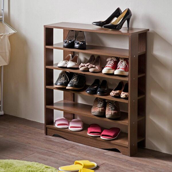 TZUMii:鞋櫃鞋架置物櫃整理櫃收納鞋子TZUMii加藤開放式五層鞋櫃