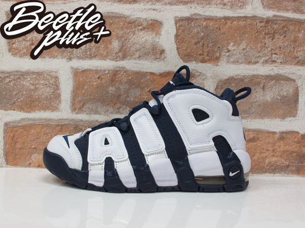 女生 BEETLE PLUS NIKE AIR MORE UPTEMPO PIPPEN 藍白 大AIR 籃球鞋 415082-104 D-636 23.5 25 CM