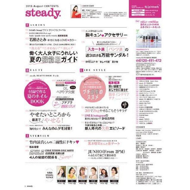 steady.8月號2018附SMELLY夏季大人風指甲油6瓶組.美甲貼