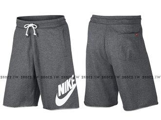 Shoestw【836278-091】NIKE NSW SHORT 短褲 棉褲 休閒短褲 灰白 男生