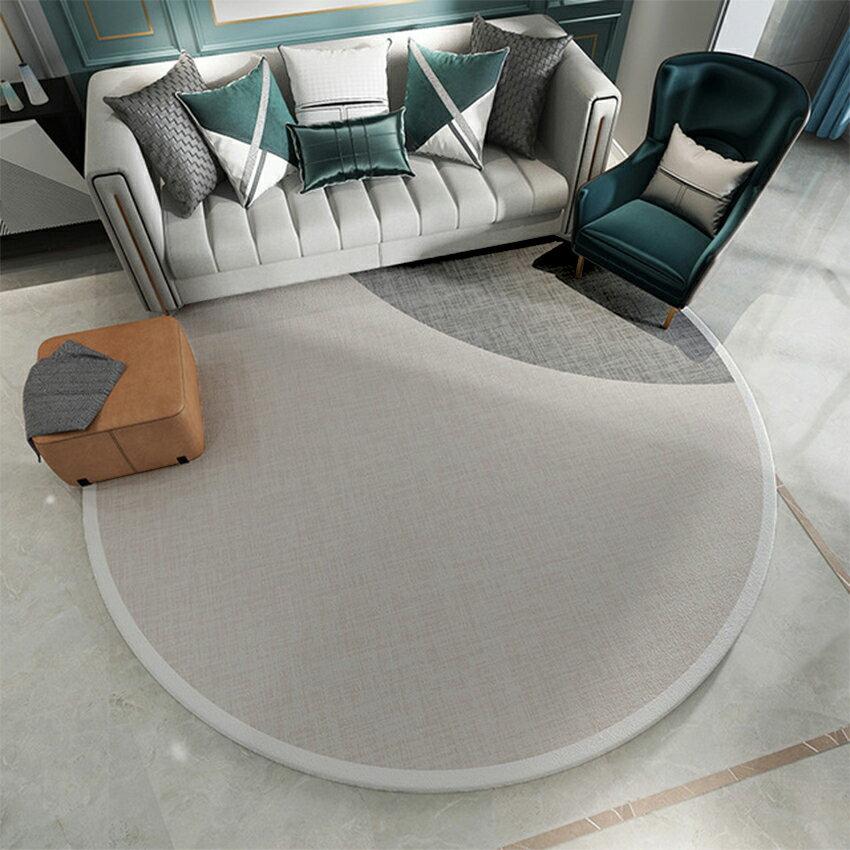 北歐輕奢風圓形地毯(120*120) 地毯 吸水墊 腳踏墊 踏墊 4