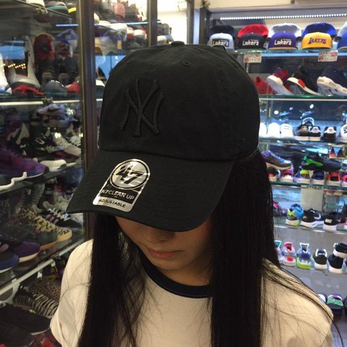 BEETLE 47 BRAND 老帽 紐約 洋基 NEW YORK YANKEES DAD HAT 大聯盟 全黑 黑魂 MN-392 2