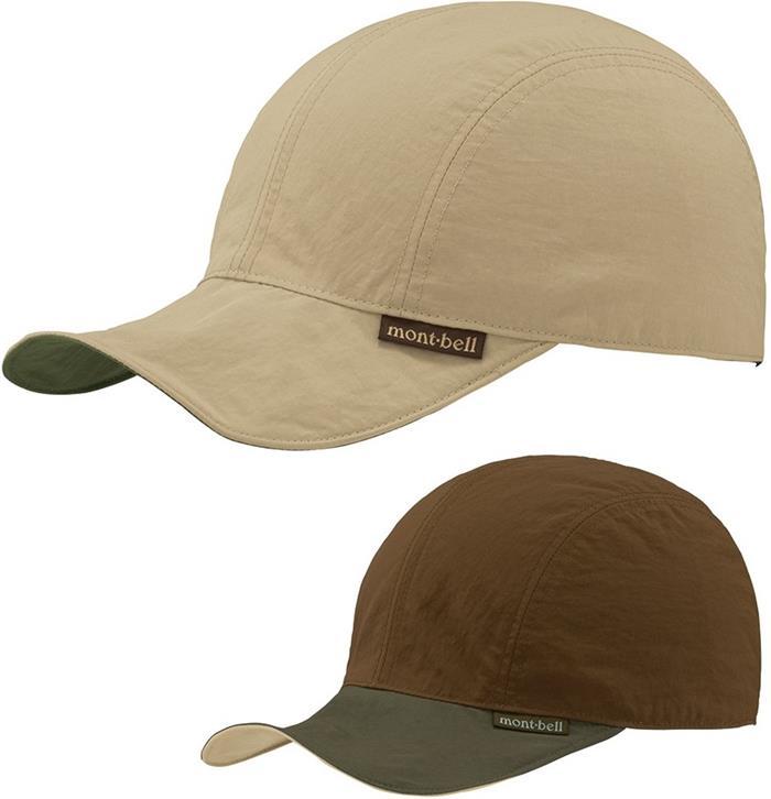 Mont-Bell 雙面棒球帽/鴨舌帽/登山帽 可捲折 1118441 LTKH 卡其咖啡雙面