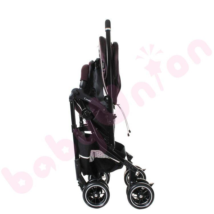 Combi康貝 - Handy Auto 4 Cas PLUS 輕量四輪自動鎖放手推車 琥珀褐 4