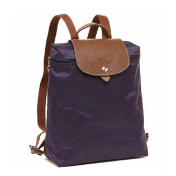 Longchamp法國經典摺疊後背包(藍莓紫)
