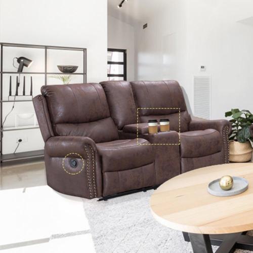 Wondrous Recliner Sofa Love Seat Reclining Couch Leather Loveseat Home Theater Seating Spiritservingveterans Wood Chair Design Ideas Spiritservingveteransorg
