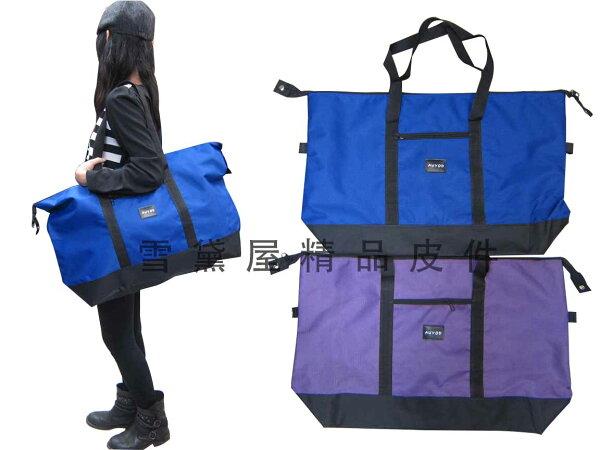 ~雪黛屋~AUYOD肩背購物袋旅行袋收納摺疊袋簡單袋超輕大容量防水尼龍布材質#2311