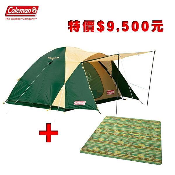 【露營趣】特價出清福利品CM-71324~5人CROSS露營帳+CM-7152防潮內墊地布家庭帳篷
