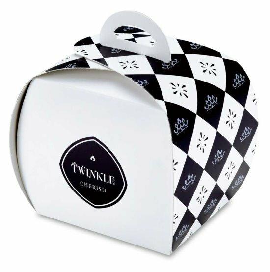 【零售量】切片蛋糕盒小.閃爍之心/藍/50個