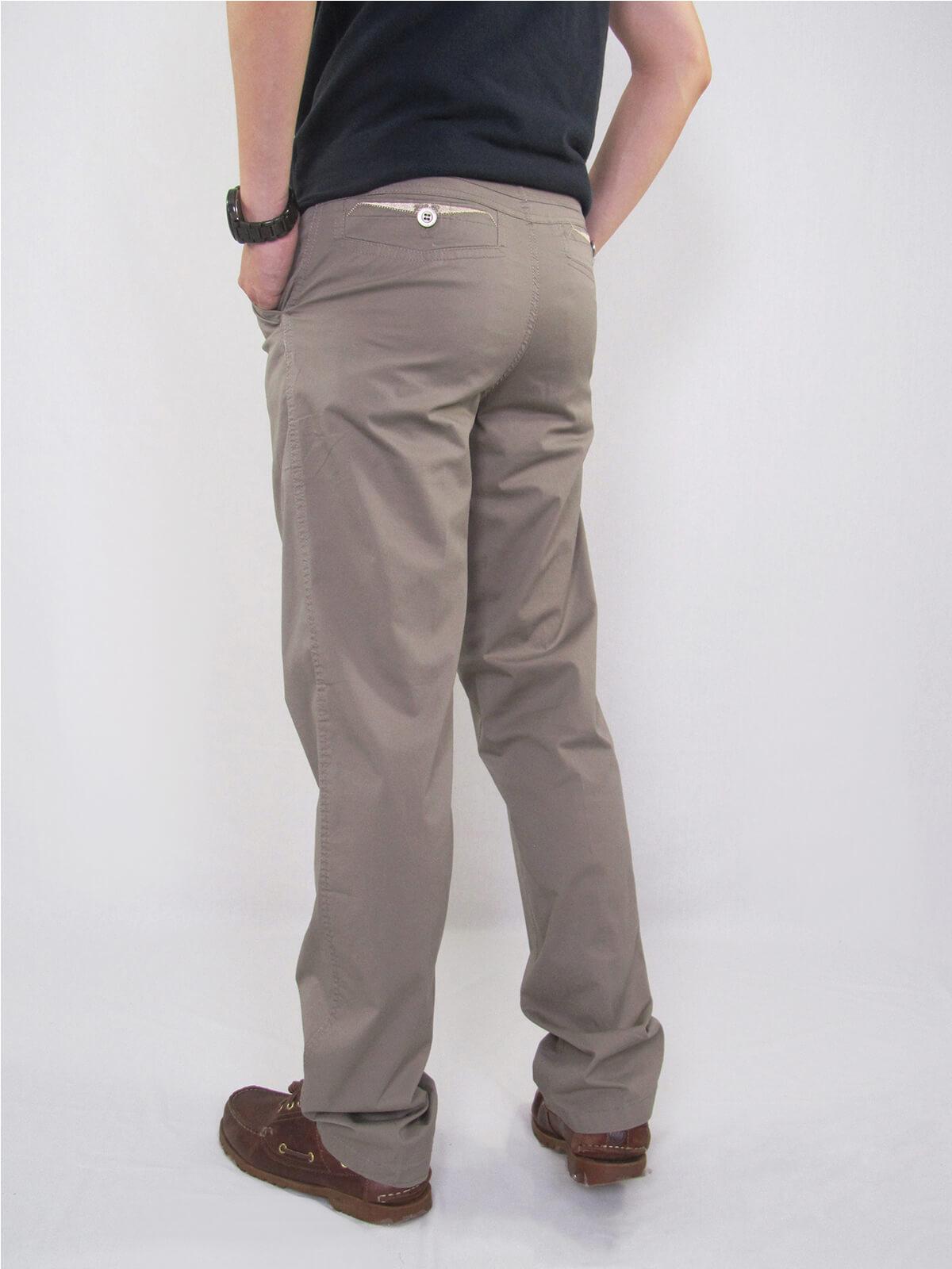 加大尺碼精梳棉平面休閒長褲 大尺寸顯瘦彈性長褲 時尚卡其長褲 PANTS (327-8106-01)銀灰色、(327-8106-02)卡其色 L XL 2L 3L 4L 5L (腰圍30~40英吋) [實體店面保障] sun-e 4