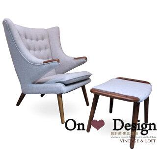 On ♥ Design ❀Hans J. Wegner The Teddy Bear chair 泰迪熊椅 PP 19 Papa (含腳蹬) 複刻版