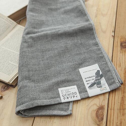 日本紀州備長炭系列方巾 毛巾 擦手擦汗巾 男士 父親 抗菌除臭 耐用/ UCHINO日本內野