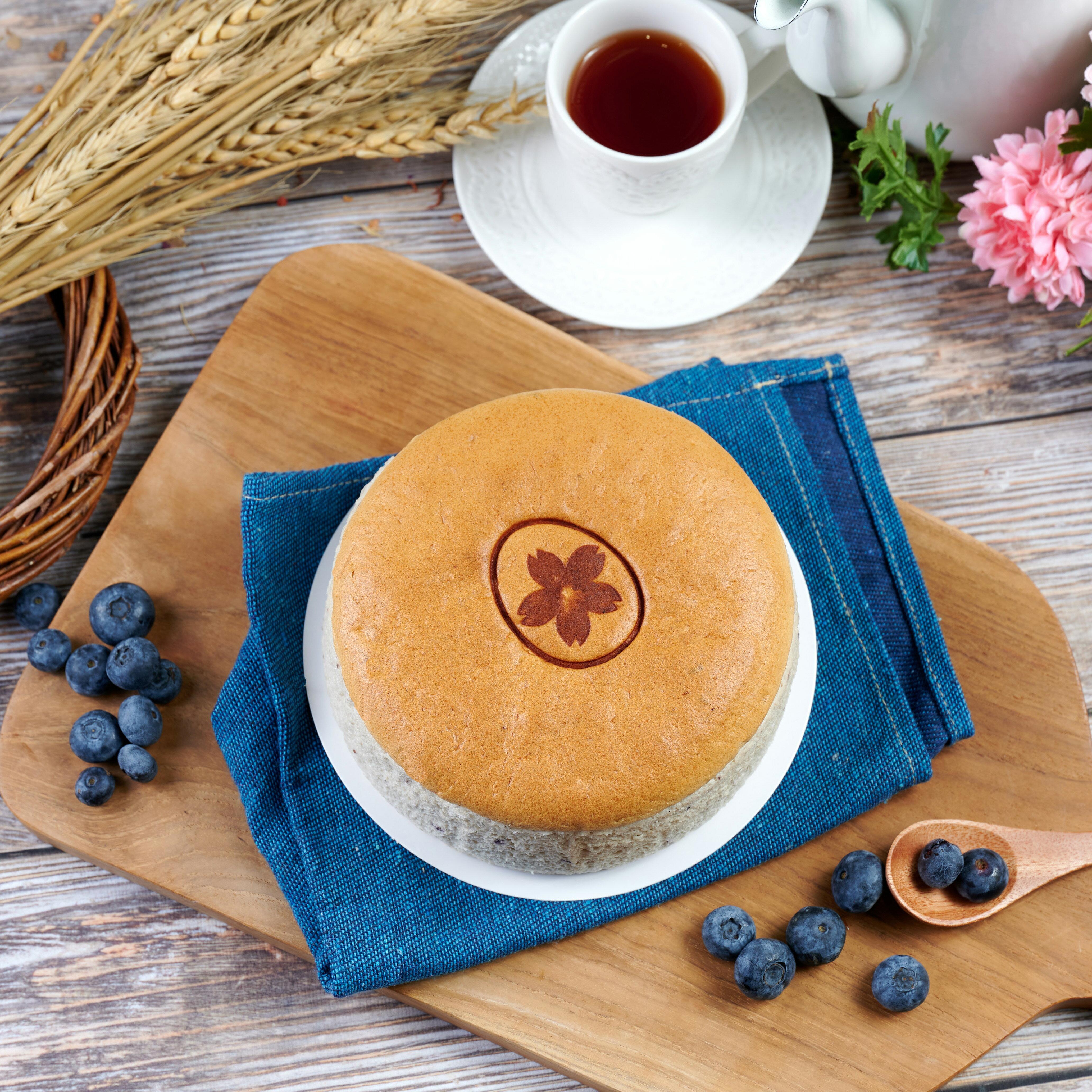 幸福屋-日式輕乳酪蛋糕  藍莓優格 6吋 伴手禮~彌月蛋糕~團購美食