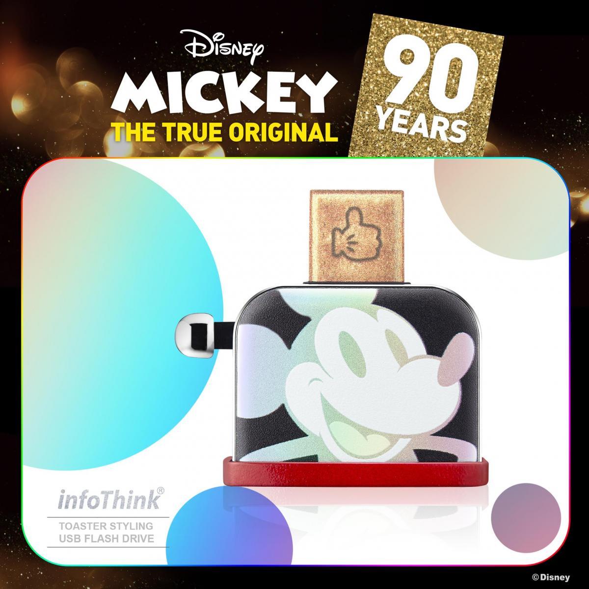 迪士尼90週年米奇系列烤吐司機造型隨身碟USB 16GB / 32GB (幻彩鐳射 / 聖誕金 /  聖誕銀) 隨身碟 3